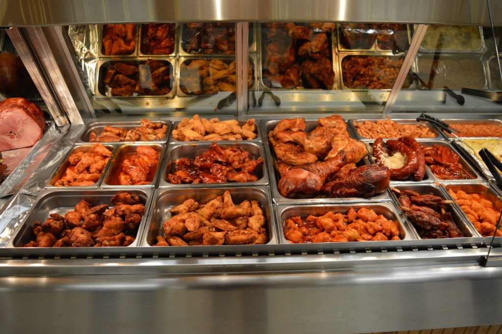 variety of BBQ meats