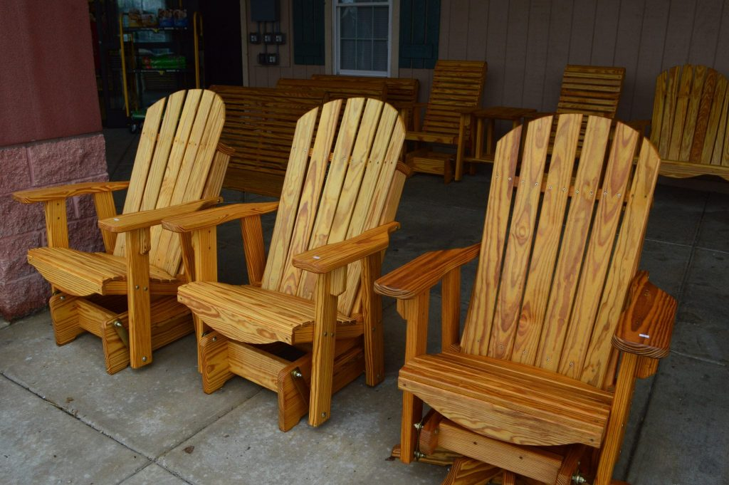 wooden glider chairs