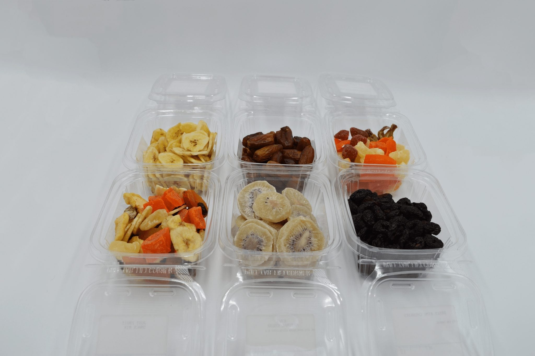 containers of bulk dried fruit