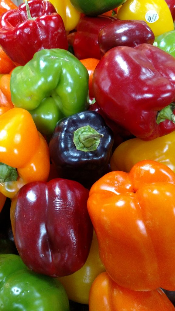 pile of multicolored bell peppers